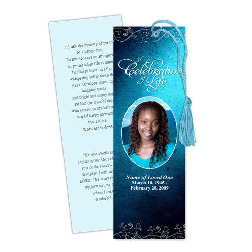 Devotion DIY Funeral Memorial Bookmark Template