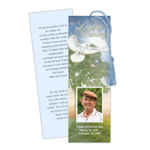 Gardener DIY Funeral Memorial Bookmark Template
