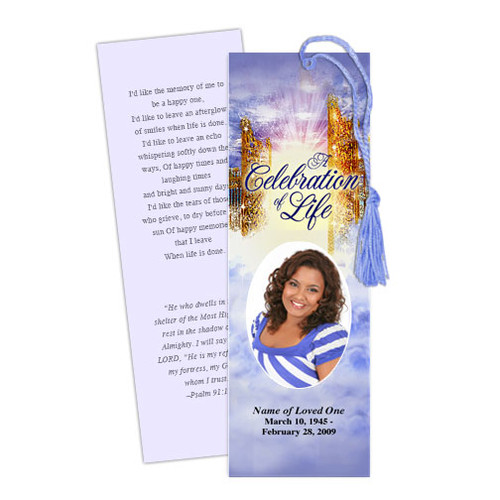 Pathway DIY Funeral Memorial Bookmark Template