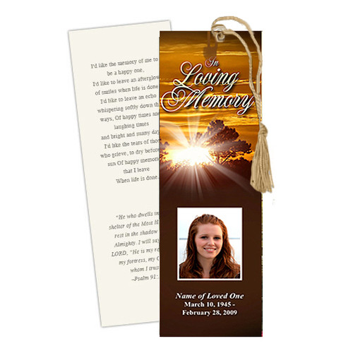 Renewal DIY Funeral Memorial Bookmark Template