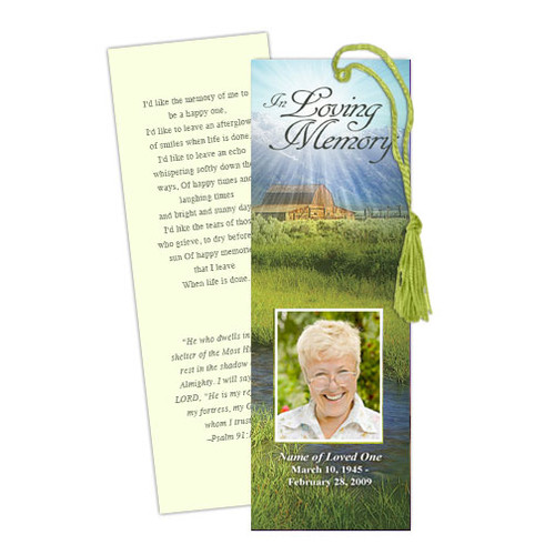 Tranquil Memorial Bookmark Template