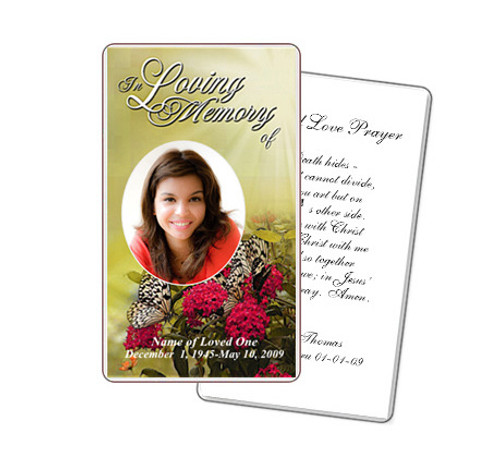 Bouquet Prayer Card Template