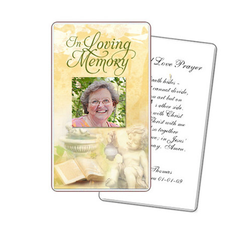 Cherub Prayer Card Template