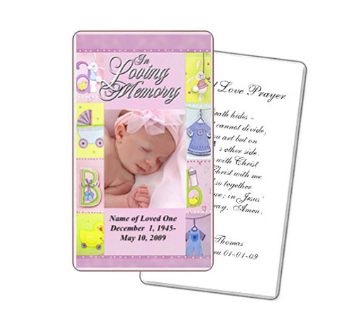 Darling Prayer Card Template