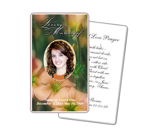 Floral Prayer Card Template