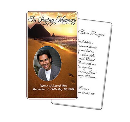 Footprints Prayer Card Template