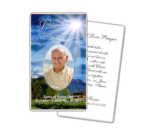Outdoor Prayer Card Template