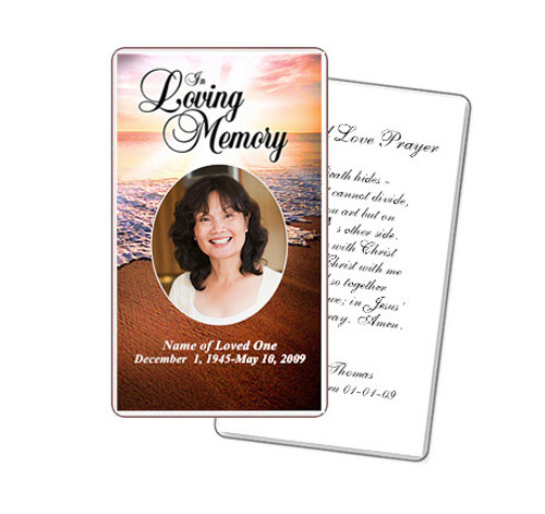Radiance Prayer Card Template