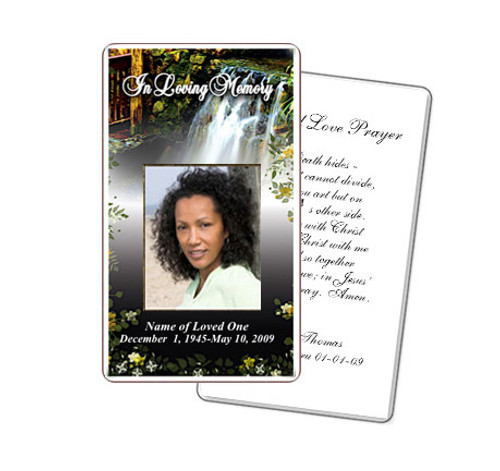 Serene Prayer Card Template