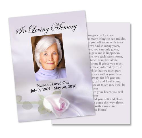 Beloved DIY Memorial Card Template