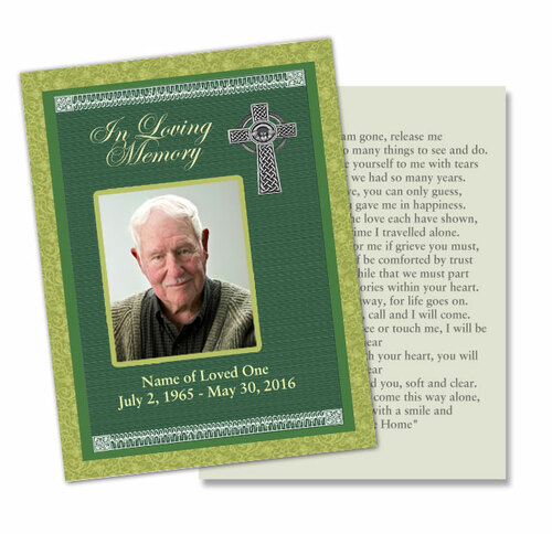 Celtic DIY Funeral Card Template