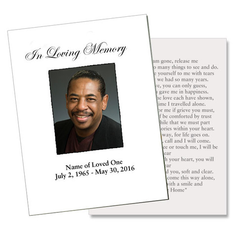 Classic DIY Funeral Card Template