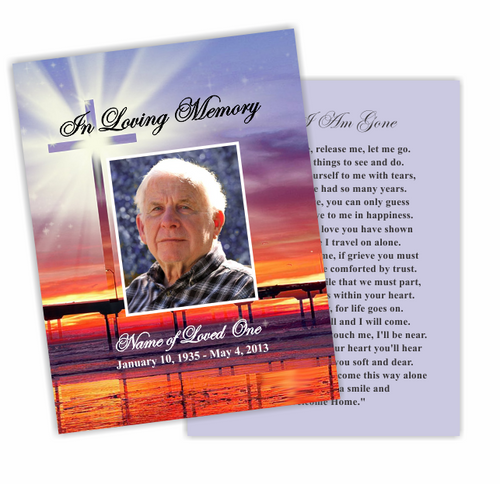 Glorify DIY Funeral Card Template