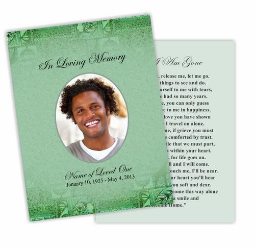 Kwanzaa DIY Funeral Card Template