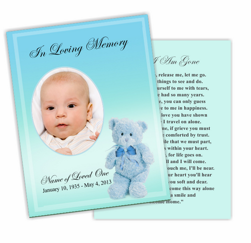 NurseryBoy DIY Funeral Card Template