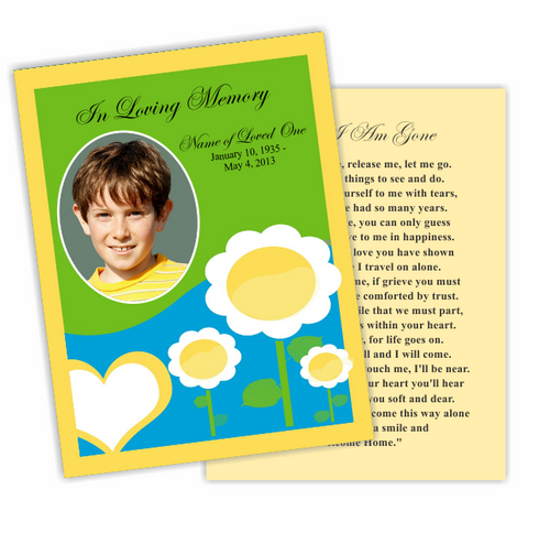 Playful DIY Funeral Card Template