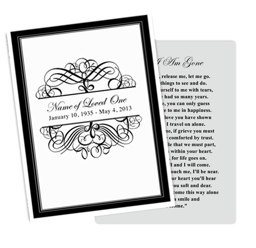 Signature DIY Funeral Card Template
