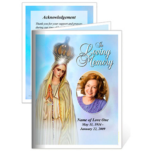 Blessed Small Folded Memorial Card Template