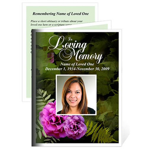 Essence Folded Funeral Card Template