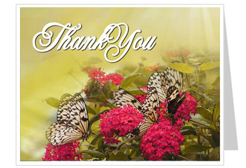 Bouquet Thank You Card Template
