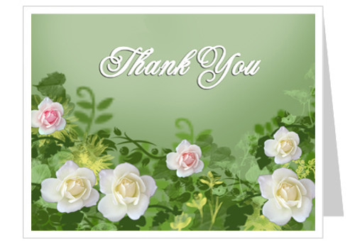 Garden Thank You Card Template