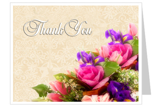 Golden Thank You Card Template