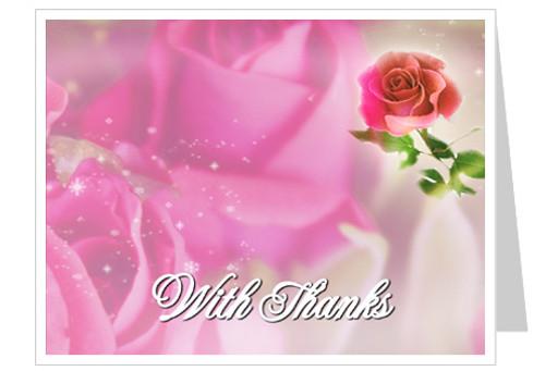 Petals Funeral Thank You Card Template