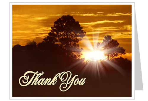 Renewal Funeral Thank You Card Template