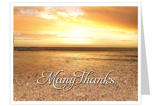 Timeless Funeral Thank You Card Template