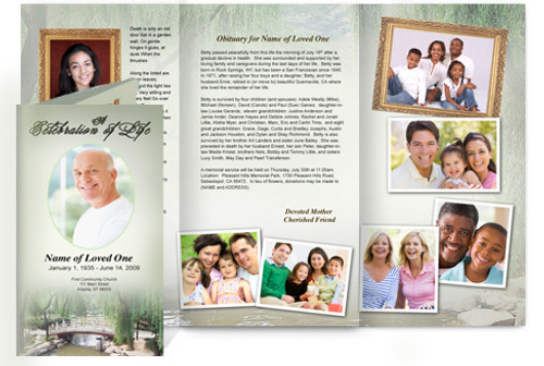 Bridge DIY Legal Funeral Tri Fold Brochure Template