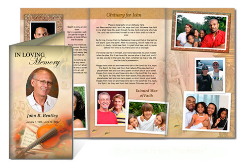 Harmony DIY Funeral Tri Fold Brochure Template