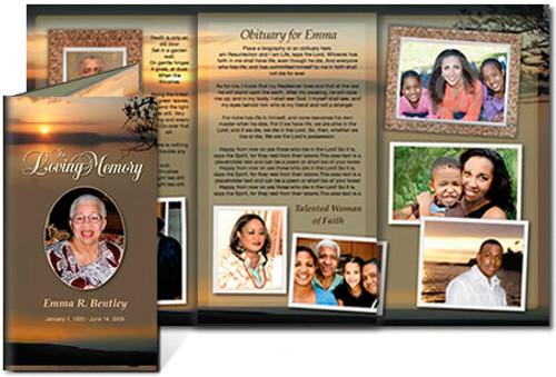 Kenya DIY Funeral Tri Fold Brochure Template