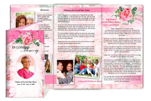 Precious DIY Legal Funeral Tri Fold Brochure Template