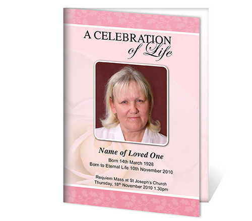 Bella A4 Program Funeral Order of Service Template