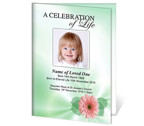 Blossom A4 Program Funeral Order of Service Template