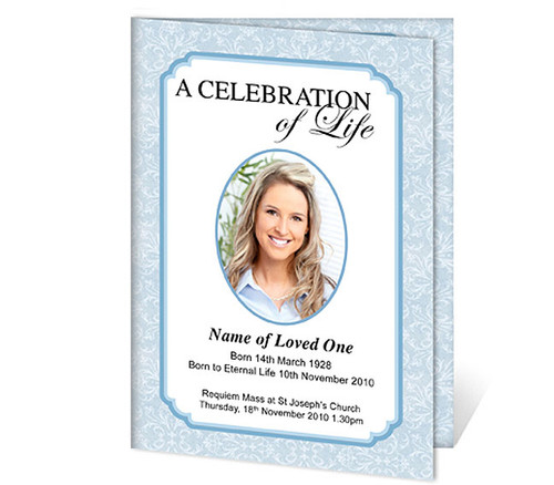 Cambria A4 Program Funeral Order of Service Template