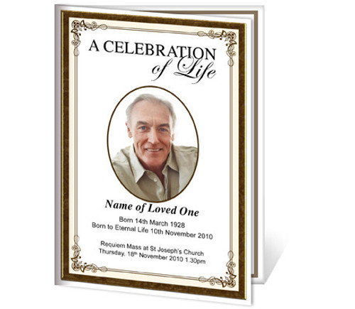 Creative A4 Funeral Order of Service Template