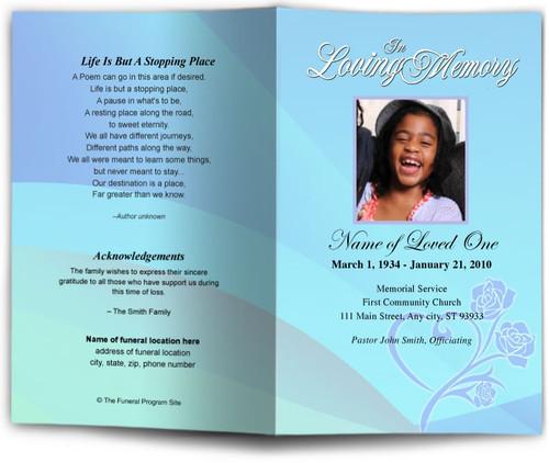 princess funeral program