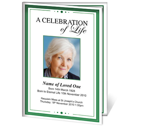 Dedication A4 Funeral Order of Service Template