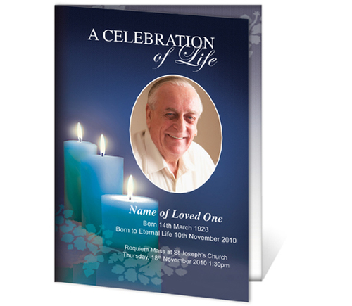 Enlighten A4 Funeral Order of Service Template