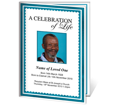 Galant A4 Funeral Order of Service Template
