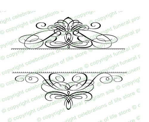 Capella Elegant Vector Flourish Border
