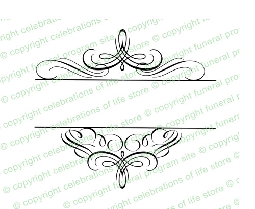 Granduer Elegant Vector Flourish Border