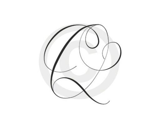 Monogram Letter Q
