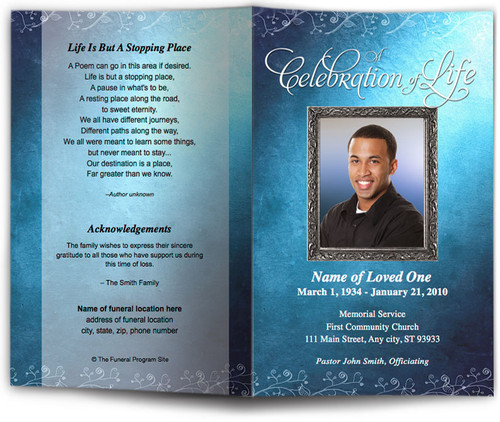 devotion teal obituary template