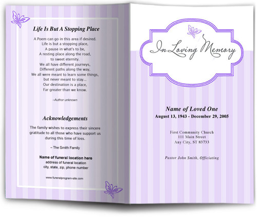 embrace lavender obituary template