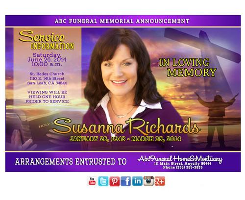 Worship Funeral Announcement Social Media