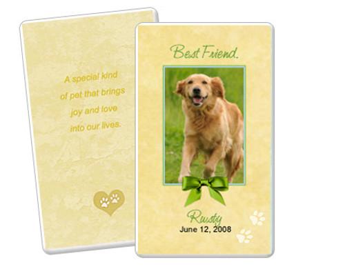 Gold Folded DIY Pet Memorial Card Templates