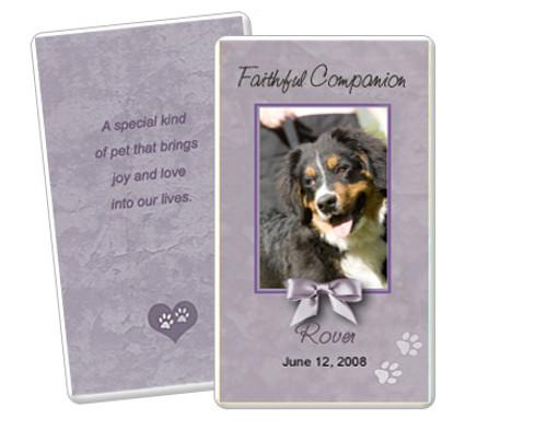 Gray Folded DIY Pet Memorial Card Templates