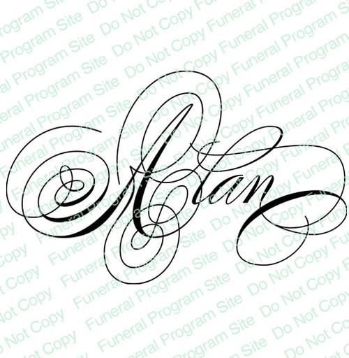 Alan Word Art Name Design